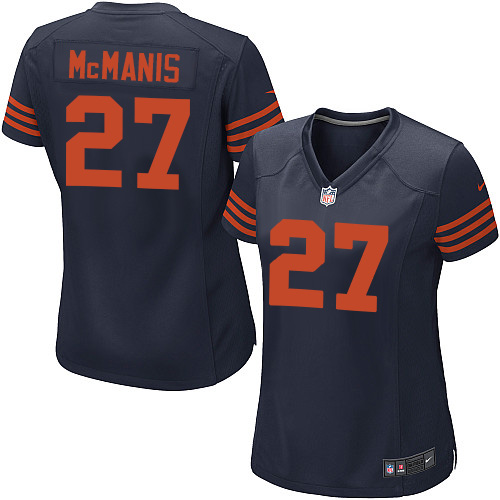 Sherrick McManis Women's Nike Chicago Bears Game Navy Blue 1940s Throwback Alternate Jersey