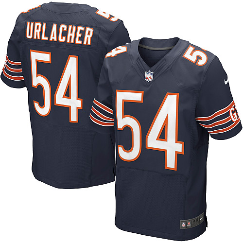 Brian Urlacher Nike Chicago Bears Elite Navy Blue Team Color Jersey