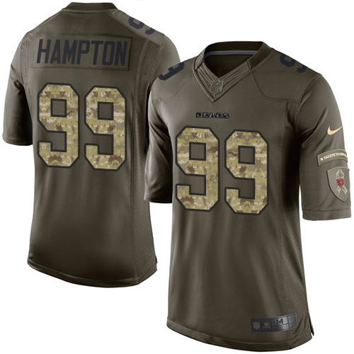 Dan Hampton Nike Chicago Bears Elite Green Salute to Service Jersey