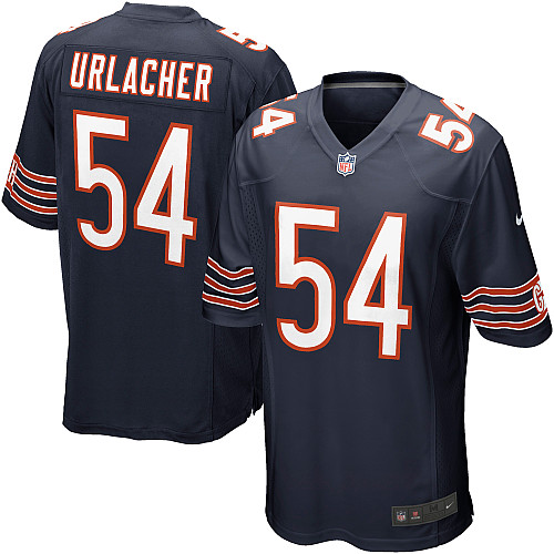 Brian Urlacher Nike Chicago Bears Game Navy Blue Team Color Jersey