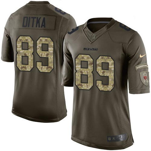 Mike Ditka Nike Chicago Bears Elite Green Salute to Service Jersey