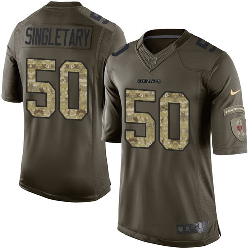 Mike Singletary Nike Chicago Bears Limited Green Salute to Service Jersey