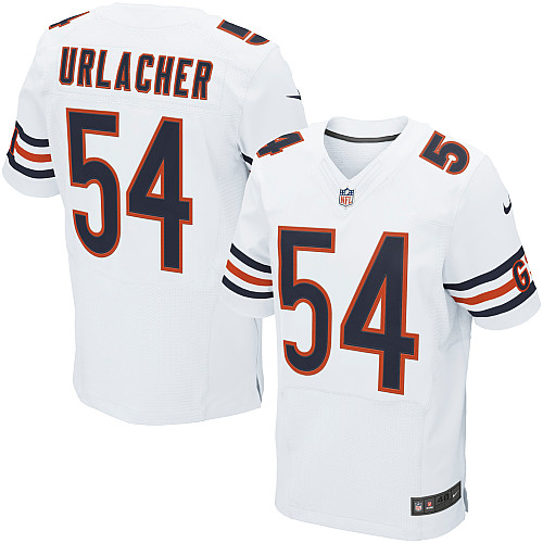 Brian Urlacher Nike Chicago Bears Elite White Jersey