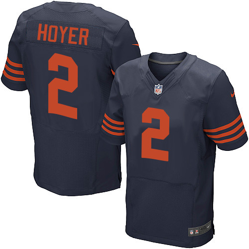 Brian Hoyer Nike Chicago Bears Elite Navy Blue 1940s Throwback Alternate Jersey