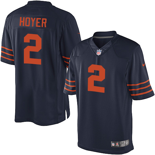 Brian Hoyer Nike Chicago Bears Limited Navy Blue 1940s Throwback Alternate Jersey