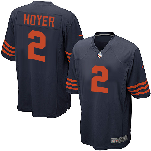 Brian Hoyer Nike Chicago Bears Game Navy Blue 1940s Throwback Alternate Jersey