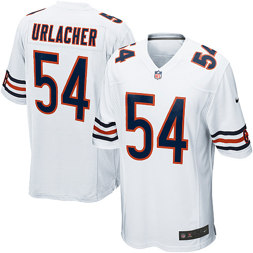 Brian Urlacher Nike Chicago Bears Game White Jersey