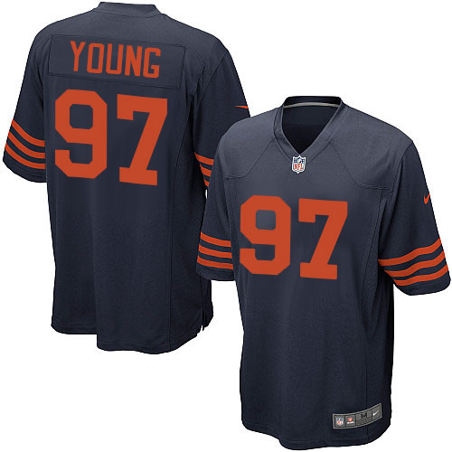 Willie Young Nike Chicago Bears Game Navy Blue 1940s Throwback Alternate Jersey