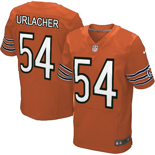 Brian Urlacher Nike Chicago Bears Elite Orange Alternate Jersey