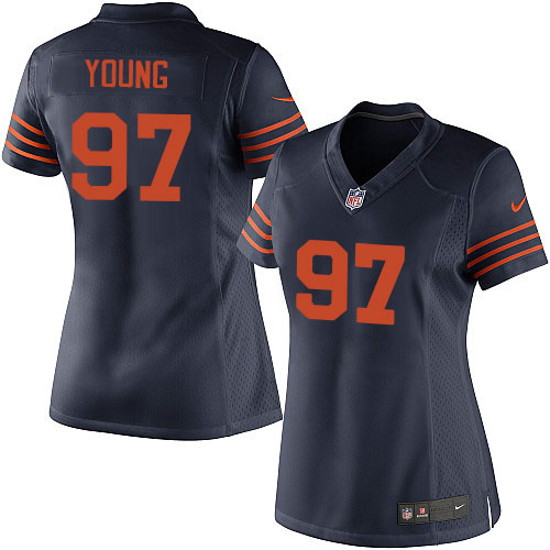 Willie Young Women's Nike Chicago Bears Elite Navy Blue 1940s Throwback Alternate Jersey