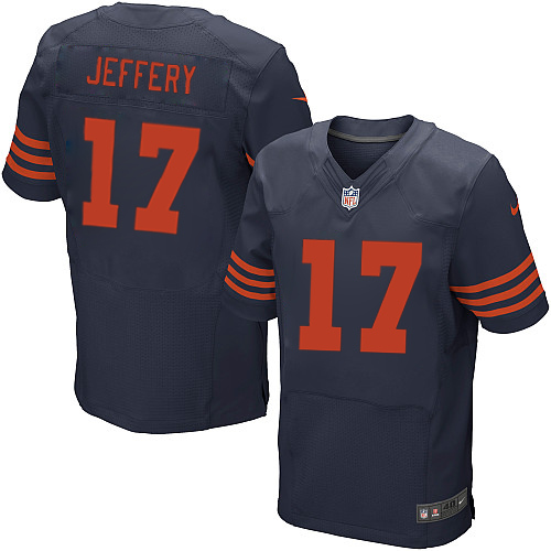 Alshon Jeffery Nike Chicago Bears Elite Navy Blue 1940s Throwback Alternate Jersey