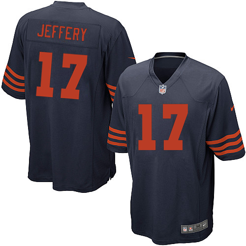 Alshon Jeffery Youth Nike Chicago Bears Elite Navy Blue 1940s Throwback Alternate Jersey