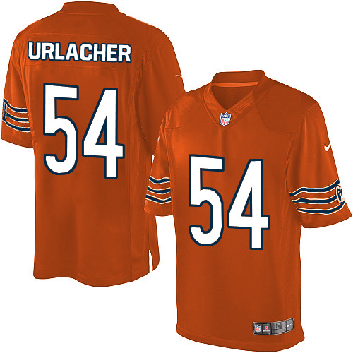 Brian Urlacher Nike Chicago Bears Limited Orange Alternate Jersey