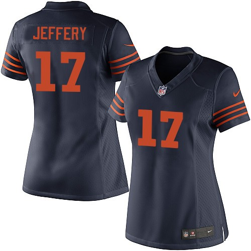 Alshon Jeffery Women's Nike Chicago Bears Elite Navy Blue 1940s Throwback Alternate Jersey