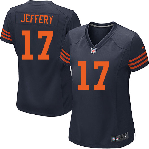 Alshon Jeffery Women's Nike Chicago Bears Game Navy Blue 1940s Throwback Alternate Jersey