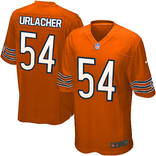 Brian Urlacher Nike Chicago Bears Game Orange Alternate Jersey