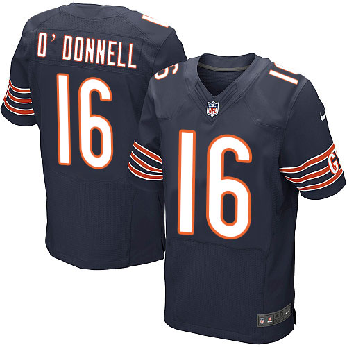 Pat O'Donnell Nike Chicago Bears Elite Navy Blue Team Color Jersey