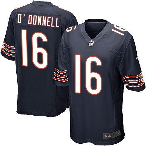 Pat O'Donnell Nike Chicago Bears Game Navy Blue Team Color Jersey