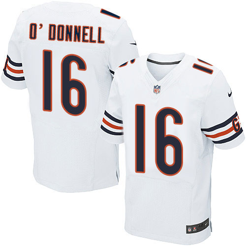 Pat O'Donnell Nike Chicago Bears Elite White Jersey