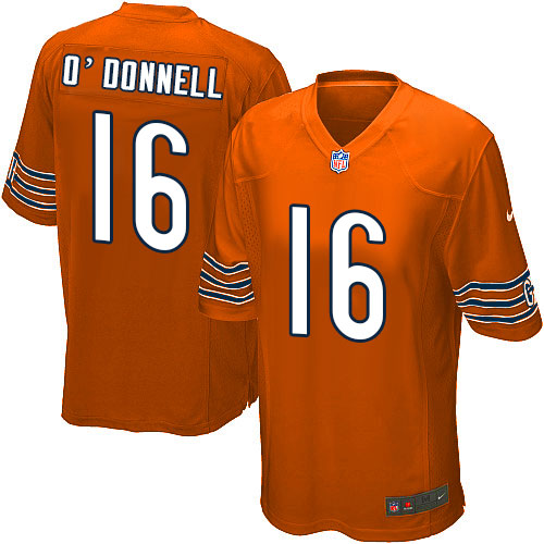 Pat O'Donnell Nike Chicago Bears Game Orange Alternate Jersey