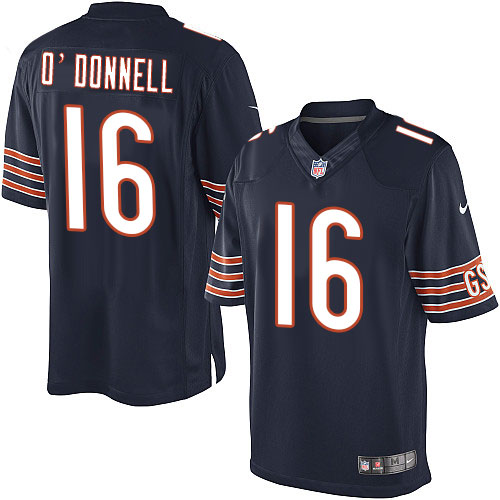 Pat O'Donnell Youth Nike Chicago Bears Elite Navy Blue Team Color Jersey