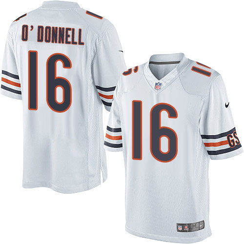Pat O'Donnell Youth Nike Chicago Bears Elite White Jersey