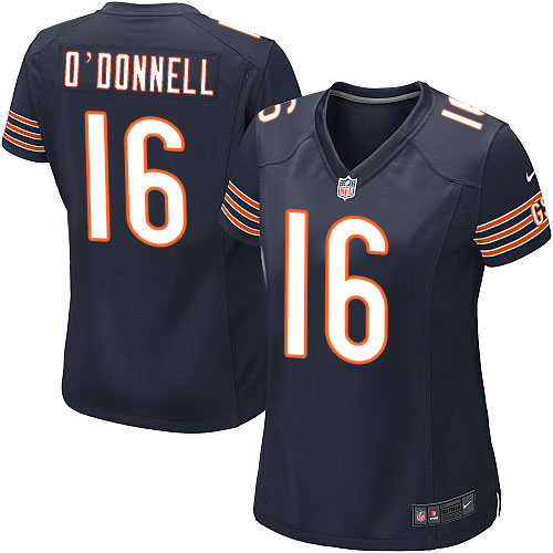 Pat O'Donnell Women's Nike Chicago Bears Game Navy Blue Team Color Jersey