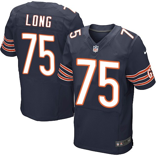 Kyle Long Nike Chicago Bears Elite Navy Blue Team Color Jersey
