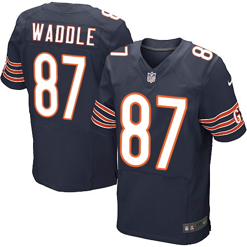 Tom Waddle Nike Chicago Bears Elite Navy Blue Team Color Jersey