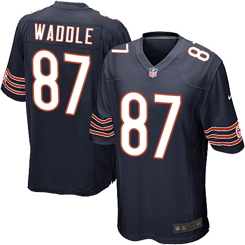 Tom Waddle Nike Chicago Bears Game Navy Blue Team Color Jersey