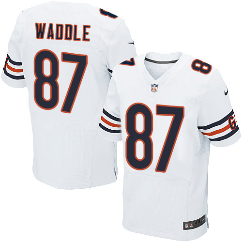 Tom Waddle Nike Chicago Bears Elite White Jersey