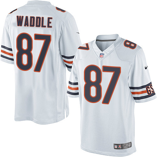 Tom Waddle Nike Chicago Bears Limited White Jersey