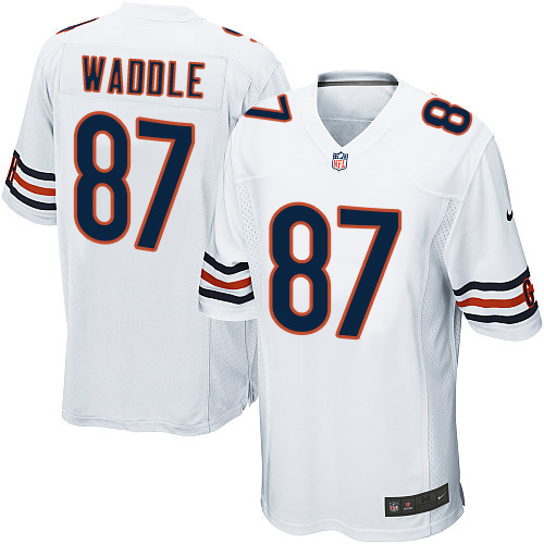 Tom Waddle Nike Chicago Bears Game White Jersey