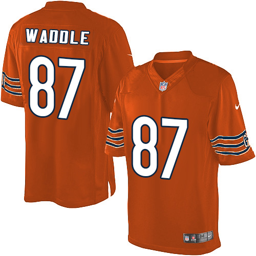 Tom Waddle Nike Chicago Bears Limited Orange Alternate Jersey
