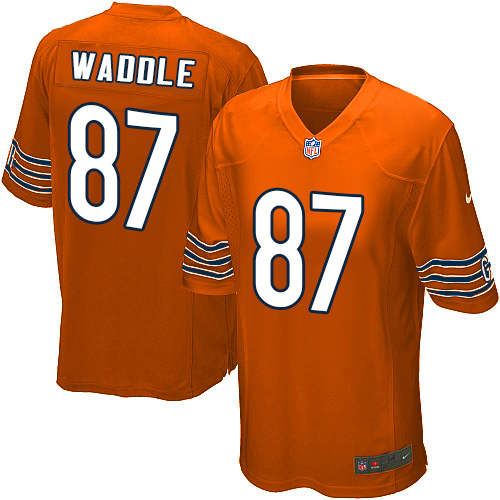 Tom Waddle Nike Chicago Bears Game Orange Alternate Jersey