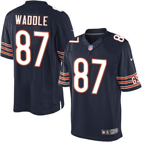 Tom Waddle Youth Nike Chicago Bears Elite Navy Blue Team Color Jersey