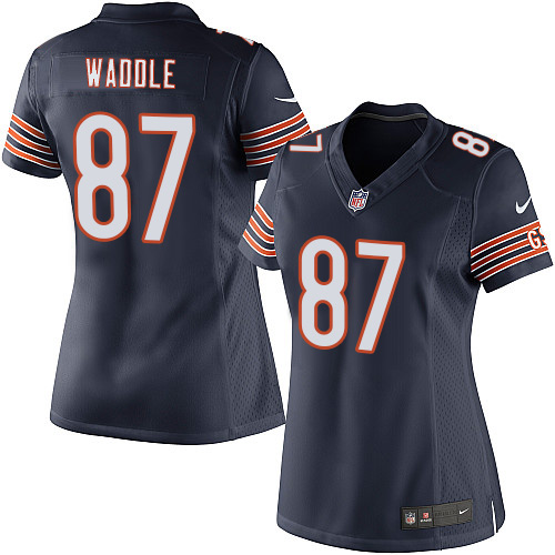 Tom Waddle Women's Nike Chicago Bears Elite Navy Blue Team Color Jersey