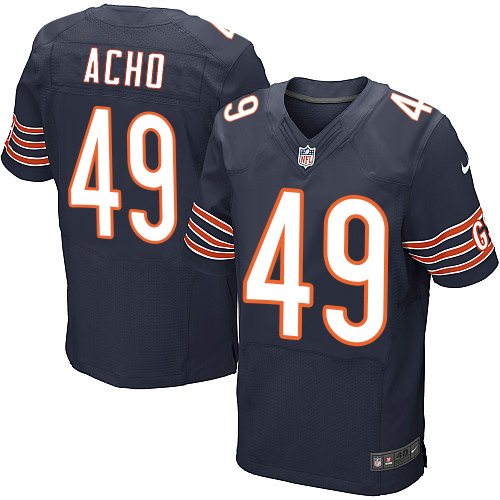 Sam Acho Nike Chicago Bears Elite Navy Blue Team Color Jersey