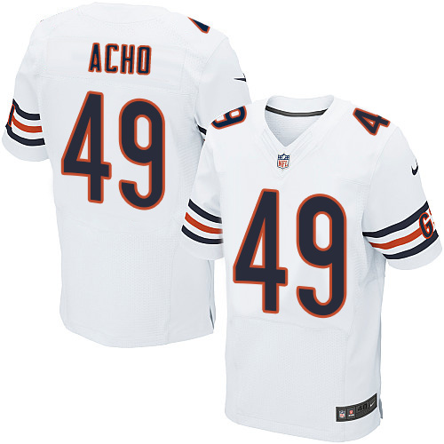 Sam Acho Nike Chicago Bears Elite White Jersey
