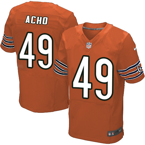 Sam Acho Nike Chicago Bears Elite Orange Alternate Jersey