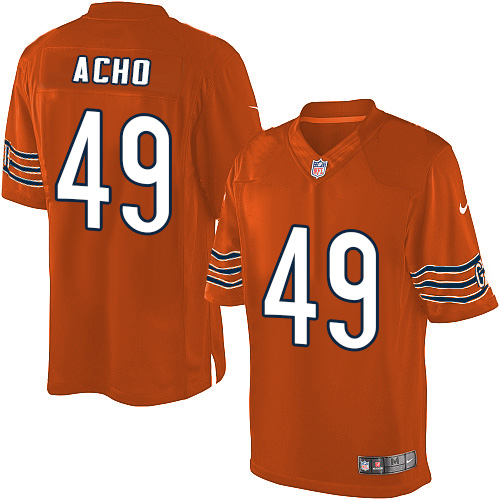 Sam Acho Nike Chicago Bears Limited Orange Alternate Jersey