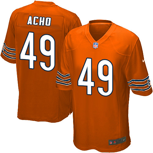 Sam Acho Nike Chicago Bears Game Orange Alternate Jersey