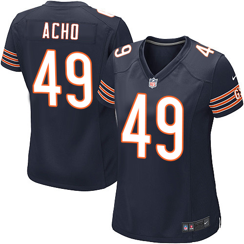 Sam Acho Women's Nike Chicago Bears Game Navy Blue Team Color Jersey
