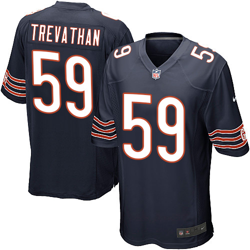 Danny Trevathan Nike Chicago Bears Game Navy Blue Team Color Jersey