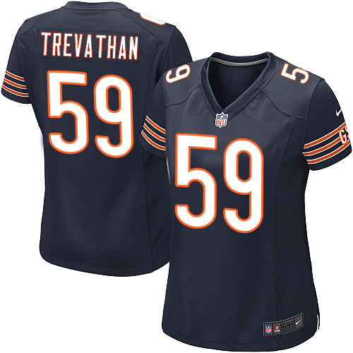 Danny Trevathan Women's Nike Chicago Bears Game Navy Blue Team Color Jersey