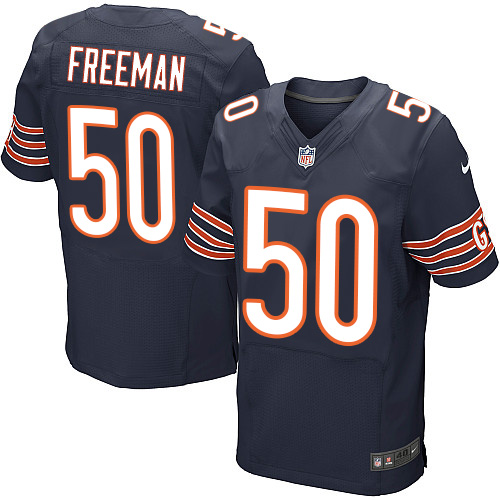 Jerrell Freeman Nike Chicago Bears Elite Navy Blue Team Color Jersey