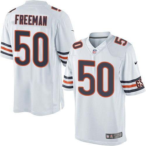 Jerrell Freeman Youth Nike Chicago Bears Limited White Jersey