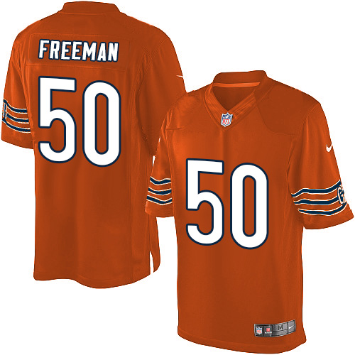 Jerrell Freeman Youth Nike Chicago Bears Limited Orange Alternate Jersey