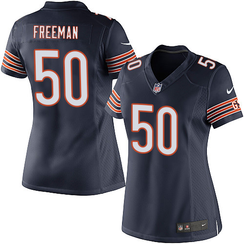 Jerrell Freeman Women's Nike Chicago Bears Elite Navy Blue Team Color Jersey