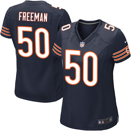 Jerrell Freeman Women's Nike Chicago Bears Game Navy Blue Team Color Jersey